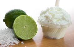Saveurs de gelato lime coconut glace vegan du Quai des glaces