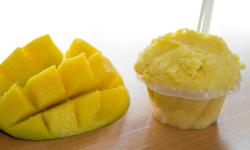 Saveurs de gelato mangue du Quai des glaces