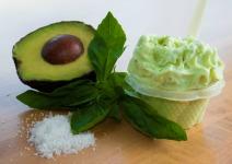 Saveur de gelato Avocat basilic - Quai des Glaces