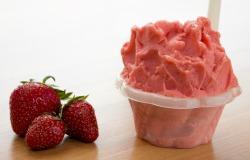 Saveurs de gelato fraises du québec du Quai des glaces