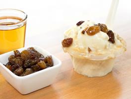 Saveur de gelato rhum et raisin du Quai des glaces