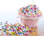 Saveurs de gelato bubble gum du Quai des glaces