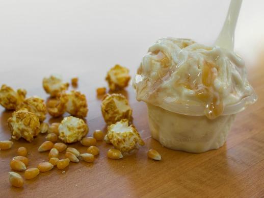 Saveur de gelato popcorn - Quai des glaces