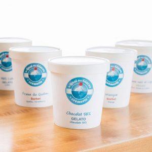 Pots de gelatos du Quai des Glaces