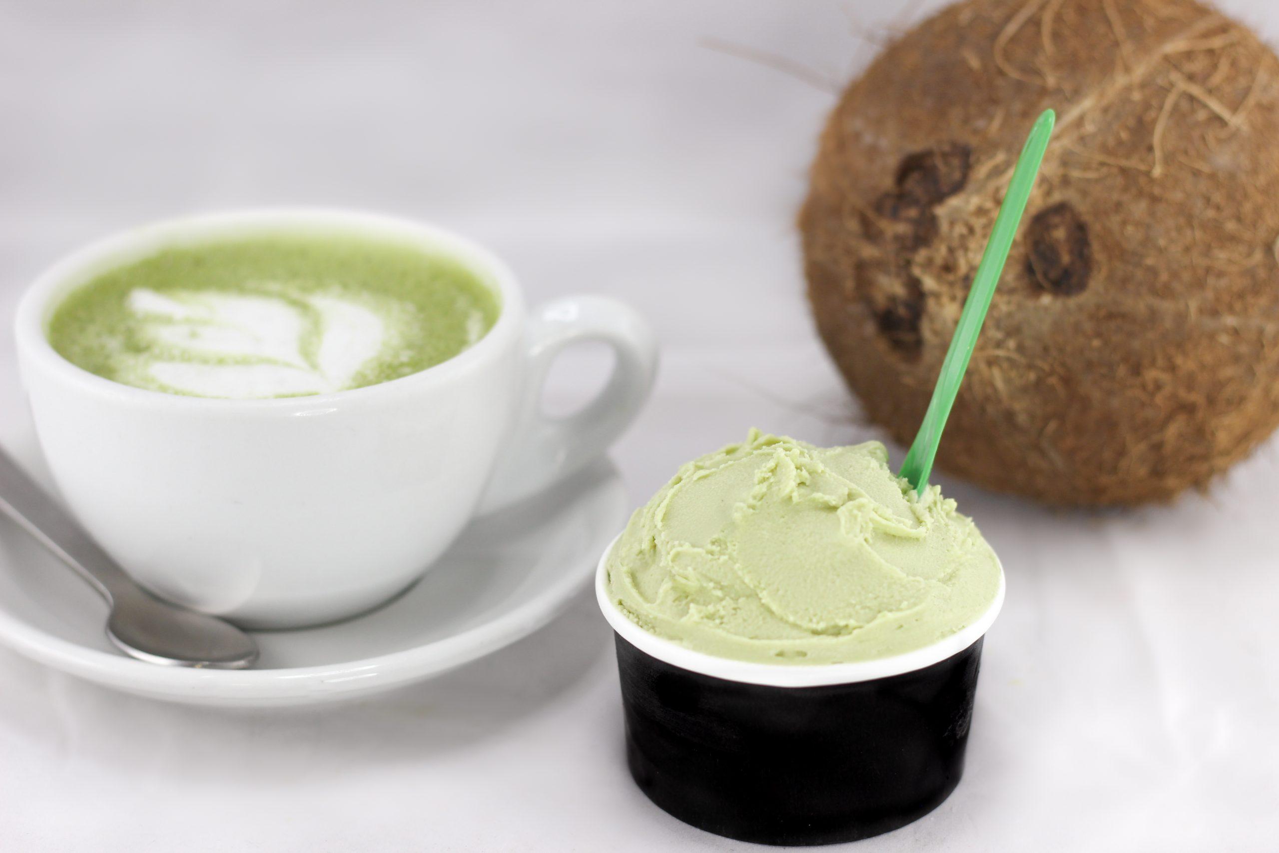 Matcha coco (glace végane)