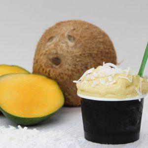 Glace végane Coco-mango - Le Quai des Glaces