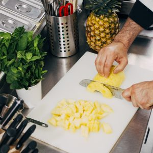 Sorbet fait avec de l'ananas frais