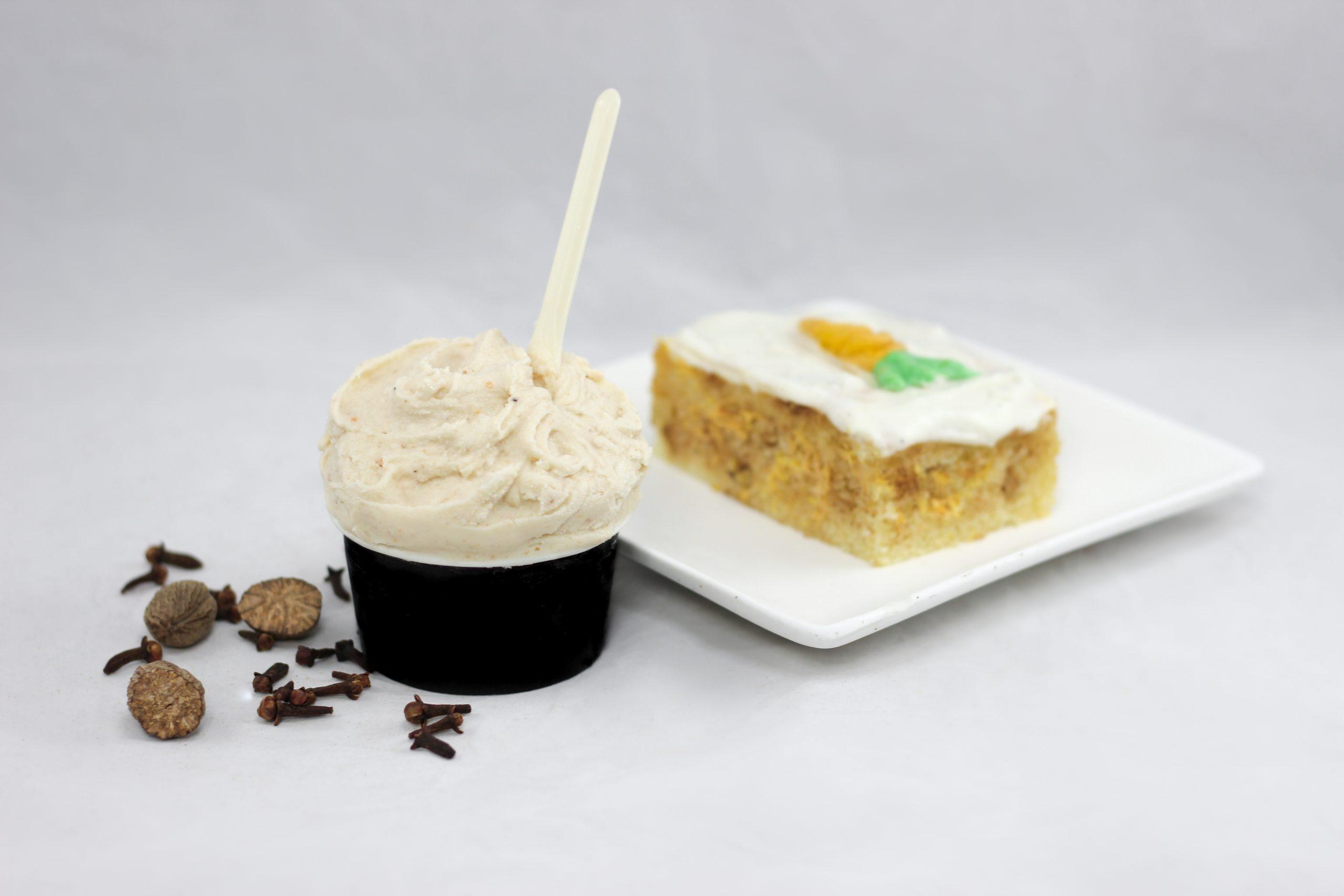 Gelato gâteau aux carottes